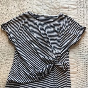 Gap twist front stripes dress medium